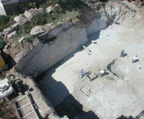 Scavi per la costruzione Condominio Belvedere - Nuoro -